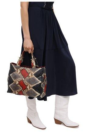 Женская сумка из кожи питона RUBEUS MILANO разноцветного цвета, арт. 018/16D040 | Фото 2