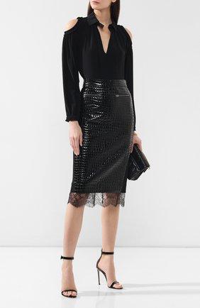 Женская кожаная юбка TOM FORD черного цвета, арт. GCL773-LEX206 | Фото 2