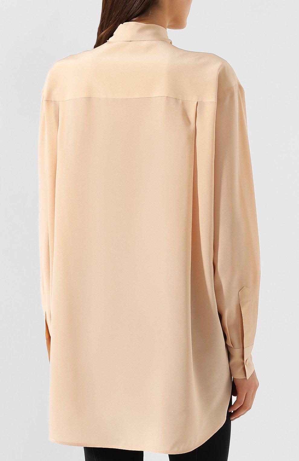 Женская шелковая блузка GIVENCHY светло-розового цвета, арт. BW60EK10JX | Фото 4