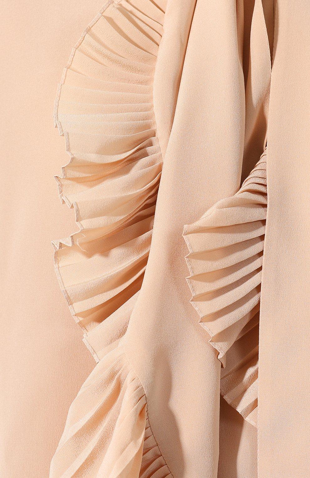 Женская шелковая блузка GIVENCHY светло-розового цвета, арт. BW60EK10JX | Фото 5
