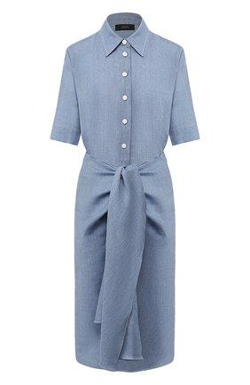Платье из смеси льна и шерсти | Фото №1