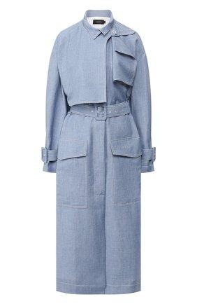 Пальто из смеси льна и шерсти | Фото №1