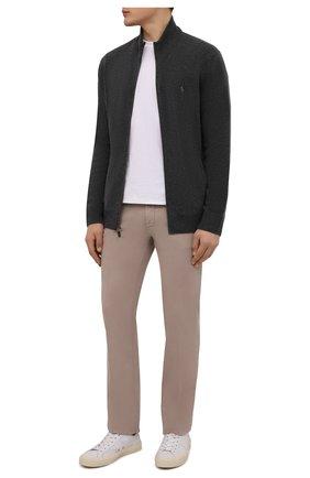 Мужские хлопковые брюки HUGO бежевого цвета, арт. 50325936 | Фото 2