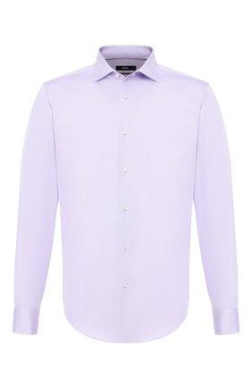 Мужская хлопковая сорочка BOSS сиреневого цвета, арт. 50410486 | Фото 1