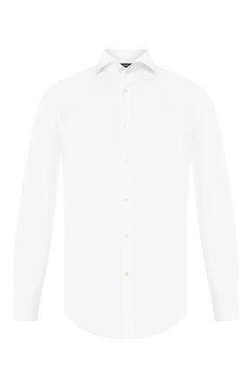 Мужская хлопковая сорочка BOSS белого цвета, арт. 50410470 | Фото 1