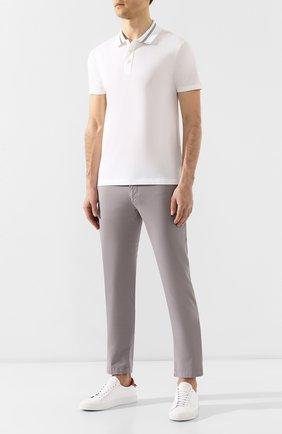Мужской хлопковые брюки BOSS светло-серого цвета, арт. 50325936   Фото 2