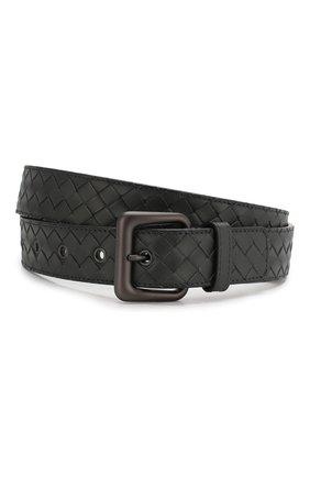 Мужской кожаный ремень BOTTEGA VENETA темно-серого цвета, арт. 271932/V4650 | Фото 1