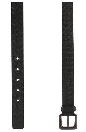 Мужской кожаный ремень BOTTEGA VENETA темно-серого цвета, арт. 271932/V4650 | Фото 2