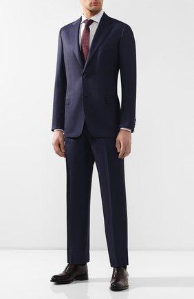 Мужские кожаные оксфорды BRIONI бордового цвета, арт. QEDS0N/P6757 | Фото 2