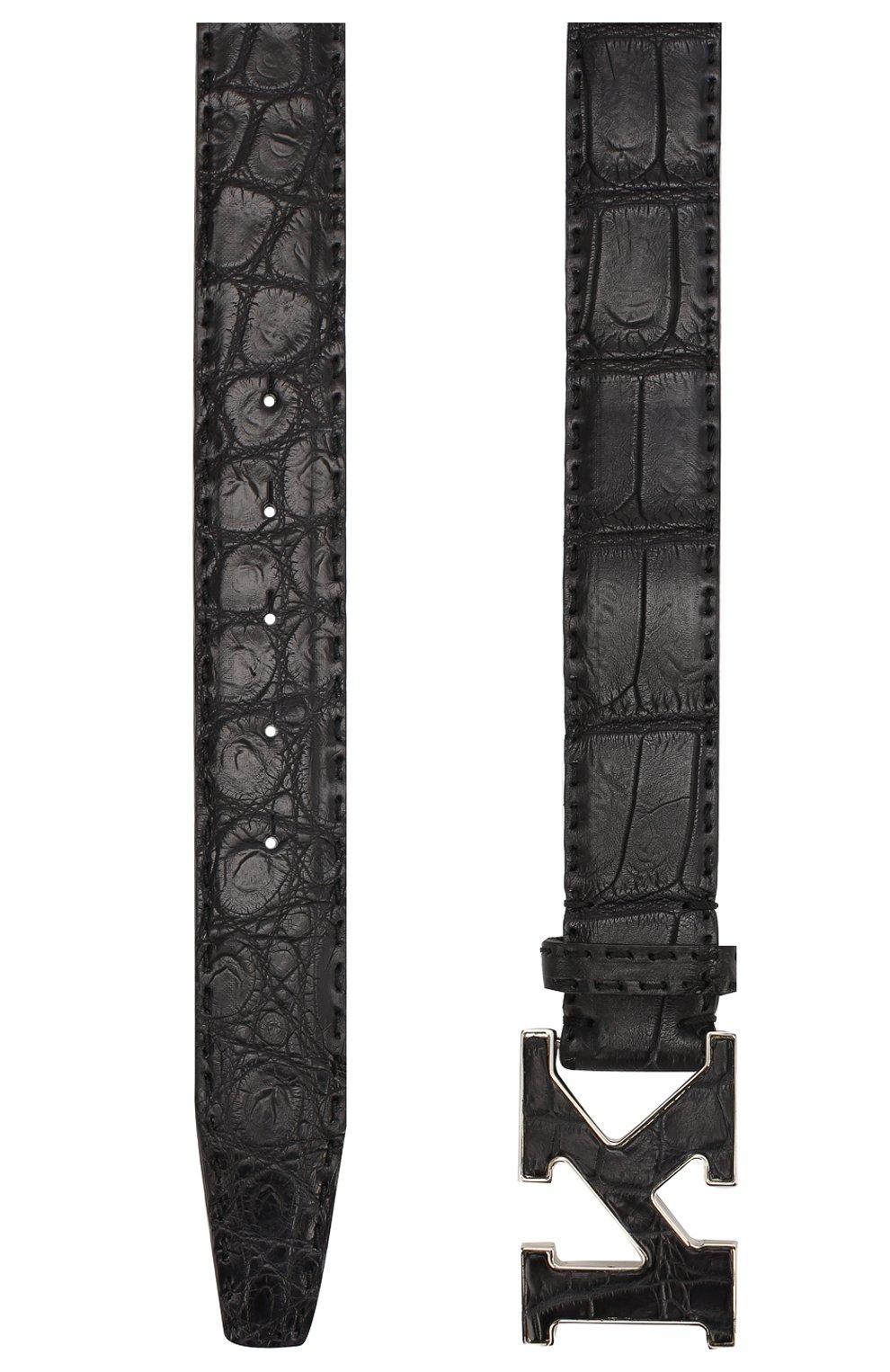 Мужской ремень из кожи крокодила KITON черного цвета, арт. USC20PN00102/CNIL | Фото 2
