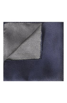 Мужской шелковый платок GIORGIO ARMANI синего цвета, арт. 360023/9P937 | Фото 1