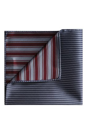 Мужской шелковый платок GIORGIO ARMANI сиреневого цвета, арт. 360023/9P912 | Фото 1