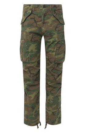 Мужские хлопковые брюки RRL хаки цвета, арт. 782726011 | Фото 1