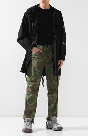 Мужские хлопковые брюки RRL хаки цвета, арт. 782726011 | Фото 2