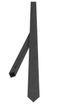 Мужской шелковый галстук GIORGIO ARMANI черно-белого цвета, арт. 360054/9P931 | Фото 2