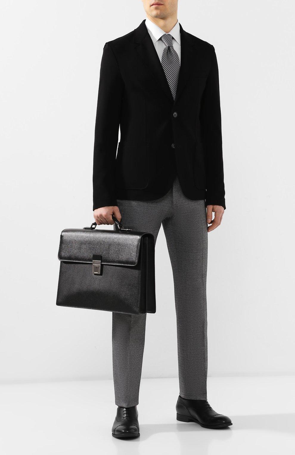 Мужской кожаный портфель evoluzione SERAPIAN черного цвета, арт. SEV0EMLL5971M40B | Фото 2