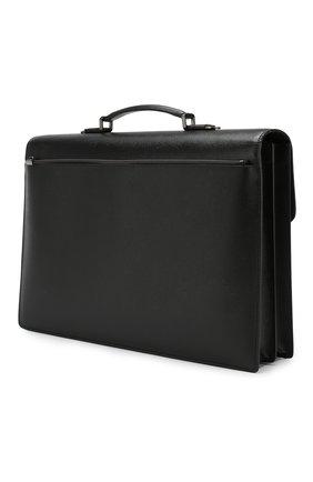 Мужской кожаный портфель evoluzione SERAPIAN черного цвета, арт. SEV0EMLL5971M40B | Фото 3