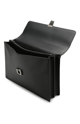 Мужской кожаный портфель evoluzione SERAPIAN черного цвета, арт. SEV0EMLL5971M40B | Фото 4