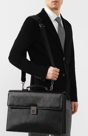 Мужской кожаный портфель evoluzione SERAPIAN черного цвета, арт. SEV0EMLL5971M40B | Фото 5