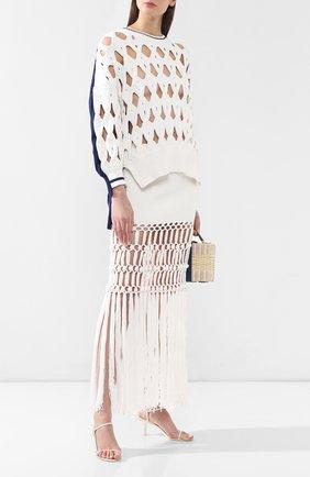 Пуловер из смеси шерсти и хлопка | Фото №2