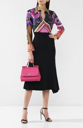 Сумка Sicily medium Dolce & Gabbana фуксия цвета | Фото №2