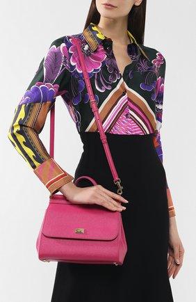 Сумка Sicily medium Dolce & Gabbana фуксия цвета | Фото №5