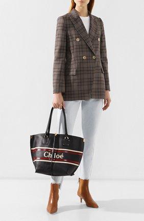 Женская сумка-тоут vick medium CHLOÉ темно-синего цвета, арт. CHC19SS130A85   Фото 2
