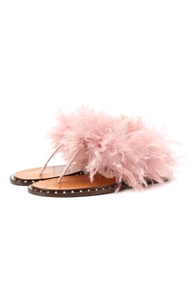 Кожаные сандалии Valentino Garavani Soul Feathers | Фото №1