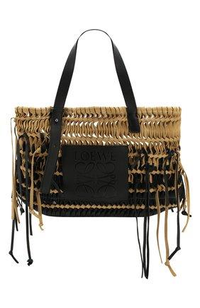 Женская сумка-тоут woven LOEWE черного цвета, арт. 327.30.U26 | Фото 1