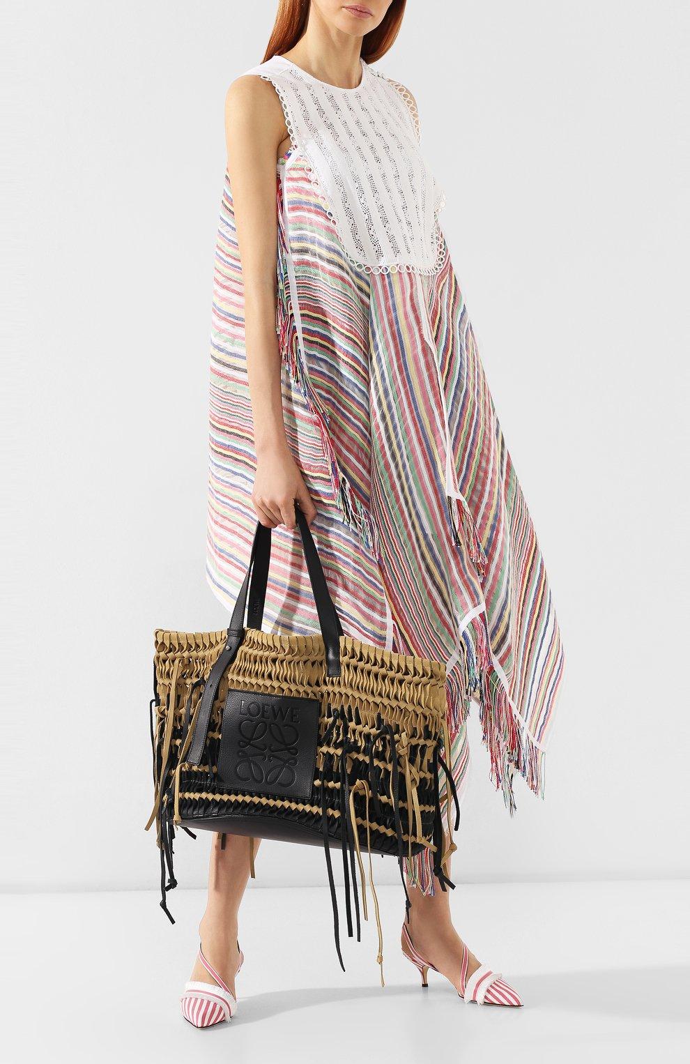 Женская сумка-тоут woven LOEWE черного цвета, арт. 327.30.U26 | Фото 2