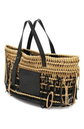Женская сумка-тоут woven LOEWE черного цвета, арт. 327.30.U26 | Фото 4
