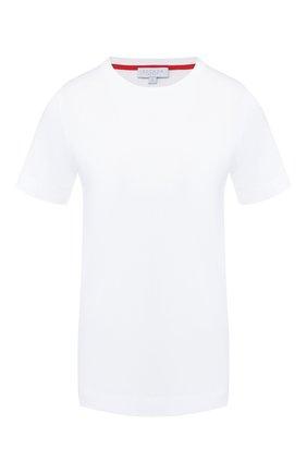 Женская хлопковая футболка ESCADA SPORT белого цвета, арт. 5030687 | Фото 1