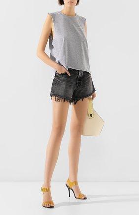 Женские джинсовые шорты MOUSSY черного цвета, арт. 025CSC11-2360 | Фото 2