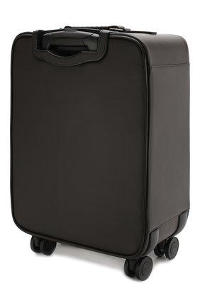 Кожаный дорожный чемодан на колесиках | Фото №2