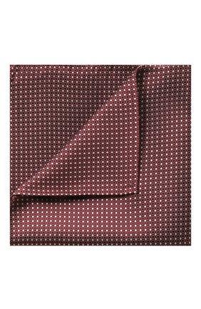 Мужской шелковый платок GIORGIO ARMANI красного цвета, арт. 360023/9P931 | Фото 1