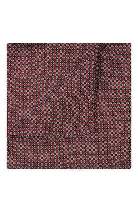 Мужской шелковый платок GIORGIO ARMANI красного цвета, арт. 360023/9P928 | Фото 1