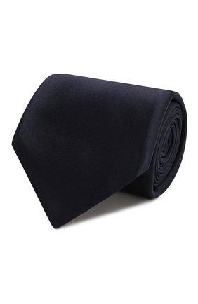 Мужской шелковый галстук KITON темно-синего цвета, арт. UCRVKAC07201 | Фото 1