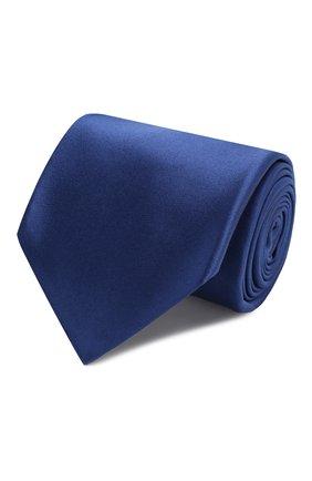 Мужской шелковый галстук KITON синего цвета, арт. UCRVKAC07201 | Фото 1