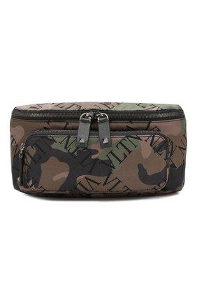 Текстильная поясная сумка Valentino Garavani VLTN   Фото №1