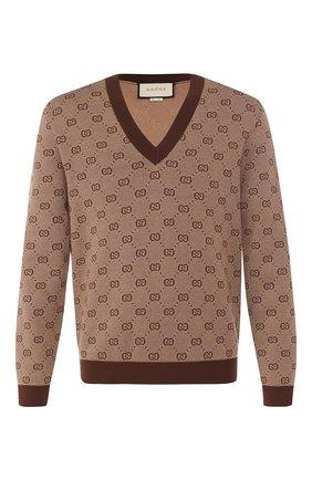 Пуловер из смеси шерсти и хлопка | Фото №1