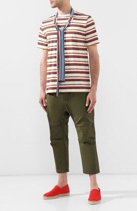 Мужские текстильные эспадрильи  CASTANER красного цвета, арт. 021223 | Фото 2