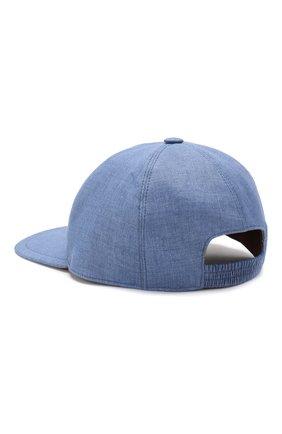 Мужской льняная бейсболка LORO PIANA синего цвета, арт. FAI6430 | Фото 2