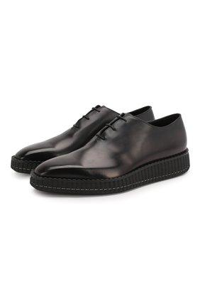 Мужские кожаные оксфорды BERLUTI черного цвета, арт. S4753-001 | Фото 1