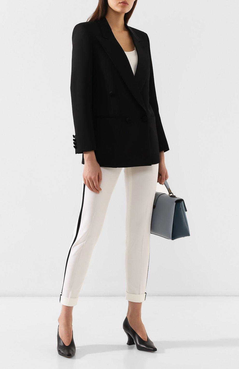 Кожаные туфли Bottega Veneta черные   Фото №2