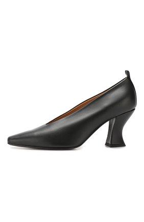 Кожаные туфли Bottega Veneta черные   Фото №3