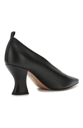 Кожаные туфли Bottega Veneta черные   Фото №4