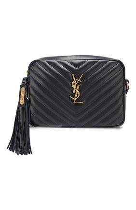 Женская сумка lou medium SAINT LAURENT темно-синего цвета, арт. 520534/DV707   Фото 1