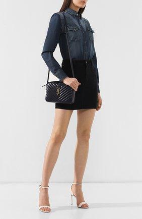 Женская сумка lou medium SAINT LAURENT темно-синего цвета, арт. 520534/DV707   Фото 2
