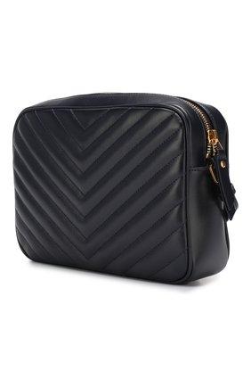 Женская сумка lou medium SAINT LAURENT темно-синего цвета, арт. 520534/DV707   Фото 3