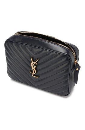 Женская сумка lou medium SAINT LAURENT темно-синего цвета, арт. 520534/DV707   Фото 4